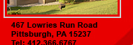 467 Lowries Run Road, Pittsburgh, PA 15237 Tel: 412.366.6767 Fax: 412.366.1404